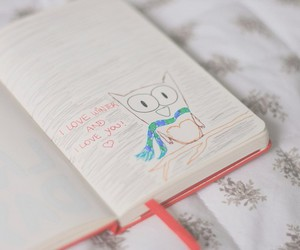 diary, heart, and Paper image