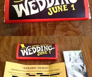 wedding, chocolate, and invitation image