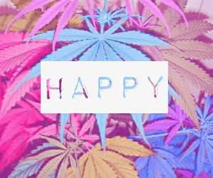 happy and weed image