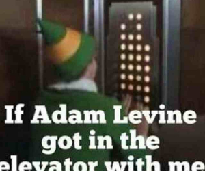 elevator, elf, and funny image