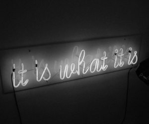black&white, quote, and lights image