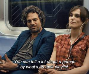 earphones, keira knightley, and movie image