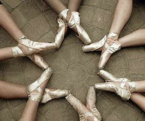 pointe shoes, stars, and cool image