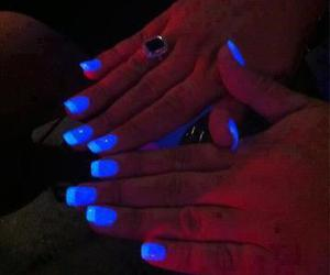 amazing, nailpolish, and blue image
