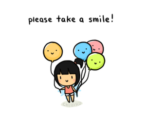 smile, cute, and balloons image