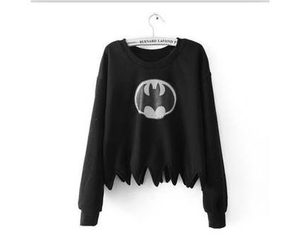 batman, black, and sweater image