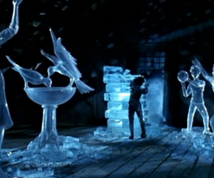 edward scissorhands, tim burton, and ice image