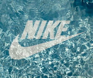 nike, water, and blue image
