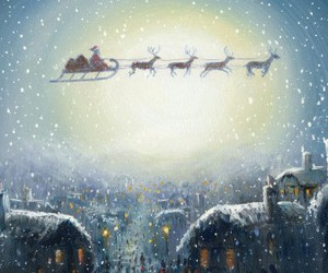 christmas, santa, and snow image