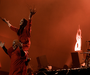slipknot, metal, and red image