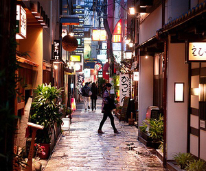 japan, street, and lights image