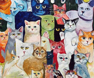 cat and art image