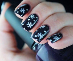 nails, nail art, and holiday image