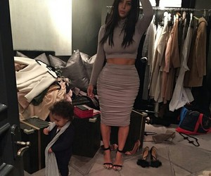 kim kardashian, north west, and kardashian image