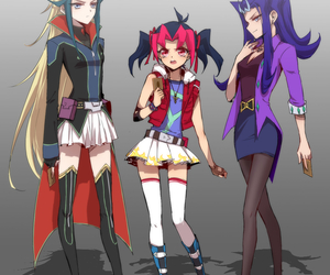 anime, duel, and girls image