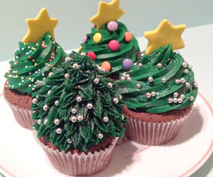 cupcake, christmas, and sapin image