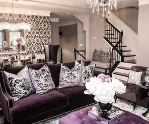 home, decor, and purple image