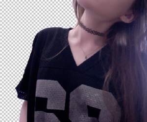 pale, choker, and grunge image