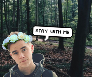 background, flower crown, and forest image
