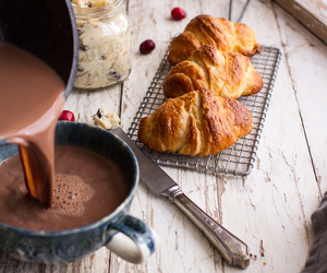 food, croissant, and bread image
