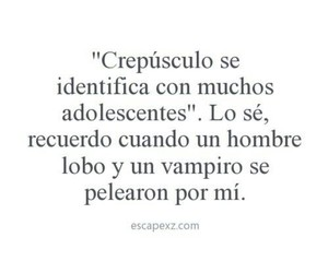 crepusculo, frases, and gracioso image