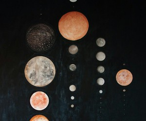 planet, art, and moon image