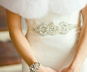 elegance, marriage, and wedding dress image