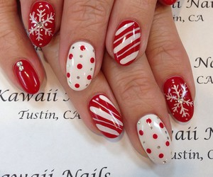 christmas, nails, and cute image