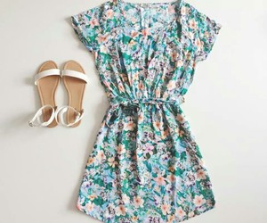 outfit, sandals, and white image