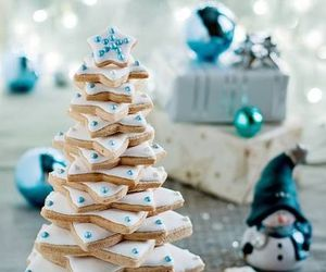 christmas, Cookies, and blue image