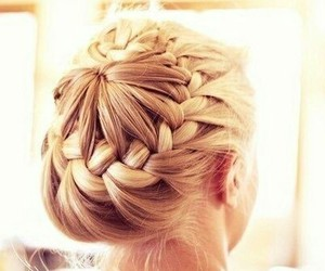 blonde, braids, and girly image