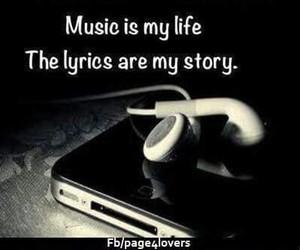 life, Lyrics, and music image