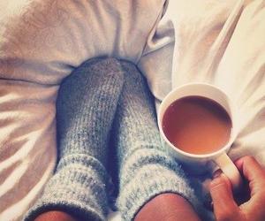 chocolate, coffee, and socks image