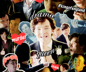 drama queen, sherlock, and Collage image