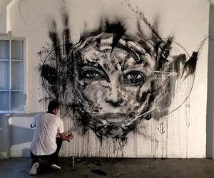 art, face, and peinture image