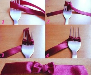 bow, diy, and fork image