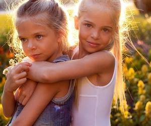 summer love, long blonde hair, and beauty twins image