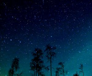 stars, blue, and night image