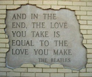 the beatles, love, and quotes image