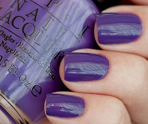 opi, nails, and purple image
