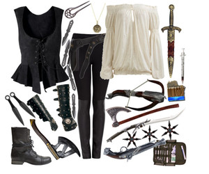 gretel, Polyvore, and witch hunter image