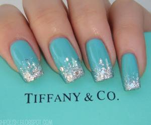 nails, blue, and tiffany image