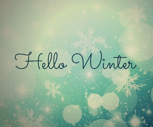 hello and winter image