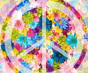 flowers, flores, and peace image