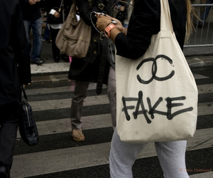 fake, chanel, and bag image