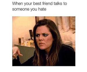 funny, best friends, and hate image