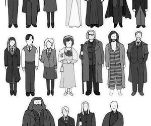 albus dumbledore, black and white, and hermione granger image