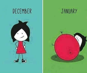 december, fat, and january image