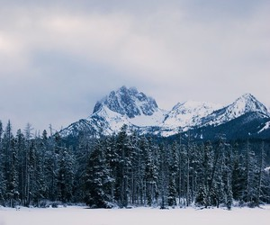 montains, nature, and snow image