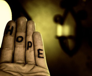 hope, love, and hand image
